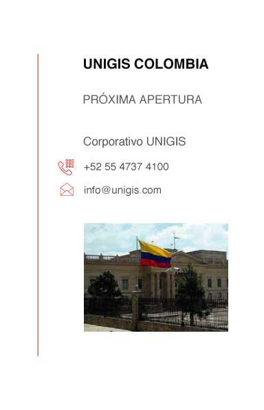 direccion colombia en unigis